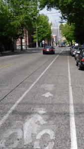 pine street seattle bike lane