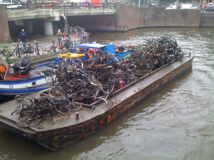 Amsterdam dredged bikes